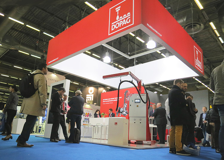 DOPAG presents the metering system coredis on the worldwide largest composites trade fair JEC World